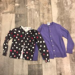 Cute 2 girls button up sweaters